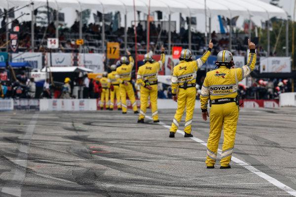 20 July, 2014, Toronto, Ontario, Canada IndyCar officials pit lane ©2014, Michael L. Levitt LAT Photo USA