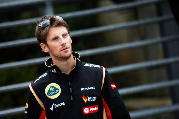 Spa-Francorchamps, Spa, Belgium. Friday 22 August 2014. Romain Grosjean, Lotus F1. World Copyright: Charles Coates/LAT Photographic. ref: Digital Image _J5R9247