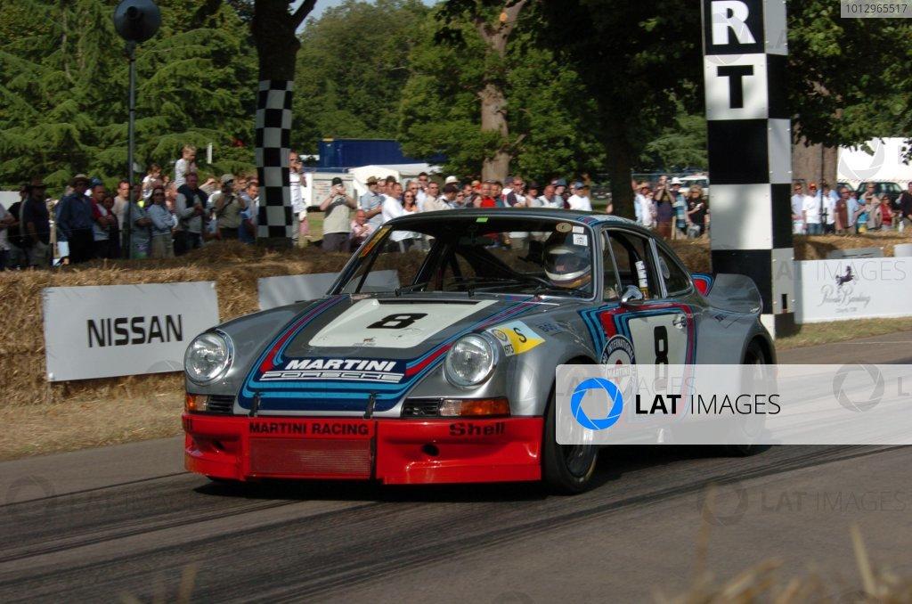 2006 Goodwood Festival of Speed Goodwood 7th/8th/9th JulyGijs van Lennep Porsche RSRWorld Copyright: Jeff Bloxham/LAT Photographic.Ref: Digital Image Only.