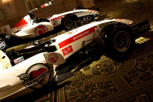 2006 Autosport AwardsGrosvenor House Hotel, London. 3rd December 2006.Honda RA106 and Bonneville 400 Special cars in the hotel.World Copyright: Peter Spinney/LAT Photographicref: Digital Image RK4O2526