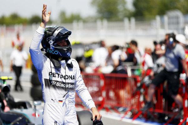 Circuit de Catalunya, Barcelona, Spain. Saturday 10 May 2014. Nico Rosberg, Mercedes AMG. World Copyright: Andy Hone/LAT Photographic. ref: Digital Image _ONZ0841