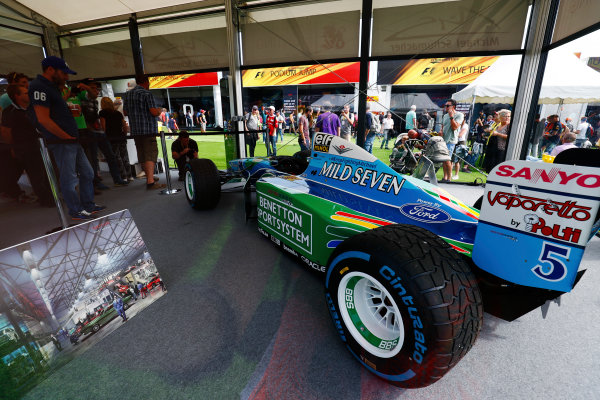 Spa Francorchamps, Belgium.  Friday 25 August 2017. A 1994 Michael Schumacher Benetton Ford on display. World Copyright: Sam Bloxham/LAT Images  ref: Digital Image _W6I8518