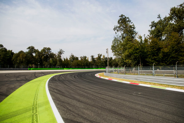 2017 GP3 Series Round 6.  Autodromo Nazionale di Monza, Monza, Italy. Thursday 31 August 2017. A view of Parabolica. Photo: Zak Mauger/GP3 Series Media Service. ref: Digital Image _56I4942