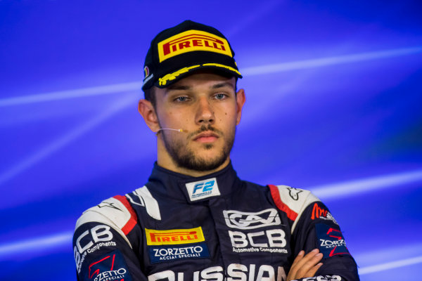 2017 FIA Formula 2 Round 8. Spa-Francorchamps, Spa, Belgium. Sunday 27 August 2017. Luca Ghiotto (ITA, RUSSIAN TIME).  Photo: Zak Mauger/FIA Formula 2. ref: Digital Image _54I3353