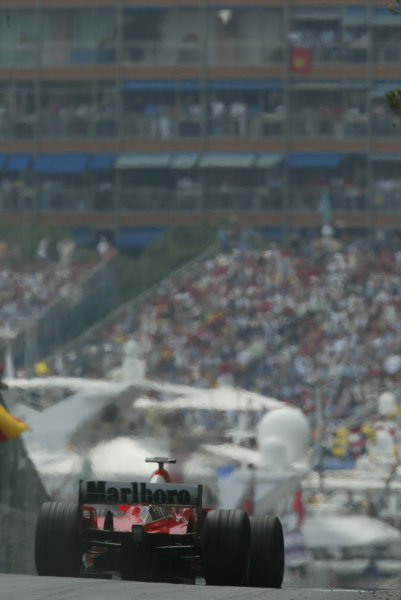 2003 Monaco Grand Prix, Sunday Race,Monte Carlo, Monaco.1st June 2003.Michael Schumacher, Ferrari F2003 GA, action.World Copyright LAt Photographic.Digital Image Only.