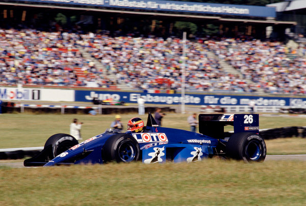 1987 German Grand Prix.Hockenheim, Germany.24-26 July 1987.Piercarlo Ghinzani (Ligier JS29C Megatron).Ref-87 GER 27.World Copyright - LAT Photographic