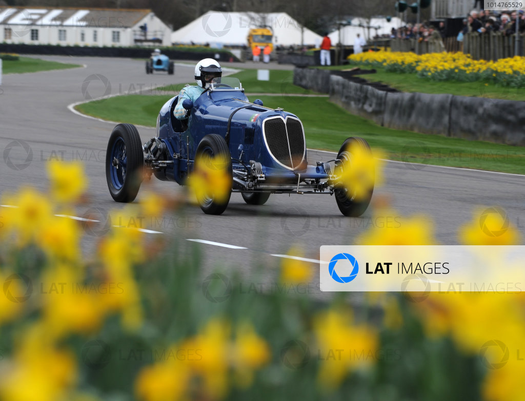 2017 75th Members Meeting Goodwood Estate, West Sussex,England 18th - 19th March 2017 Varzi Trophy Rob Newall Maserati World Copyright : Jeff Bloxham/LAT Images Ref : Digital Image