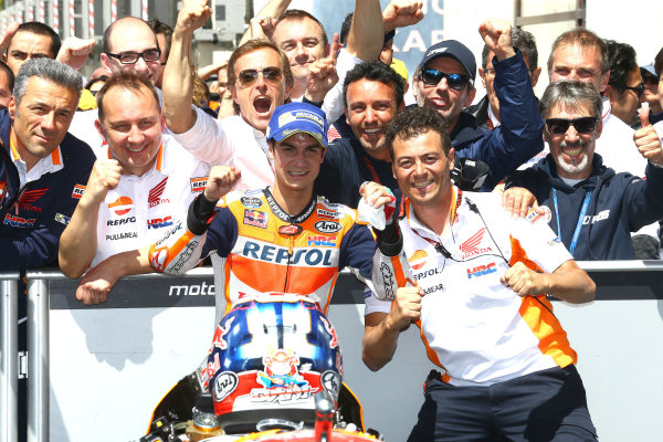2017 MotoGP Championship - Round 5 Le Mans, France Sunday 21 May 2017 Third place Dani Pedrosa, Repsol Honda Team World Copyright: Gold & Goose Photography/LAT Images ref: Digital Image 671714