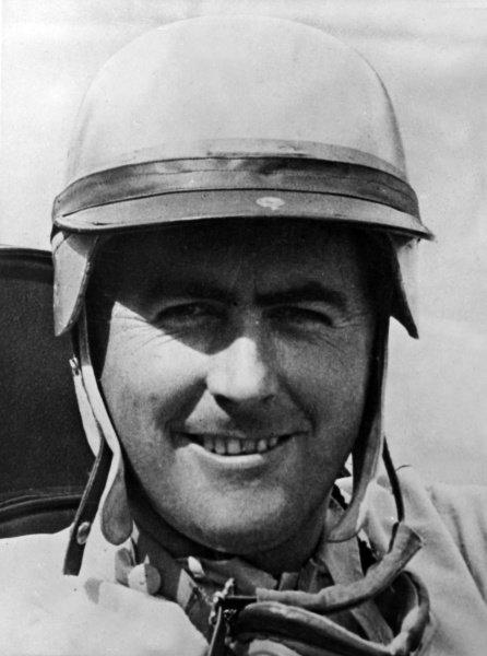 1963 German Grand Prix.Nurburgring, Germany.2-4 August 1963.Jack Brabham (Brabham BT7), 7th position, portraitRef-B/W PrintWorld Copyright - LAT Photographic