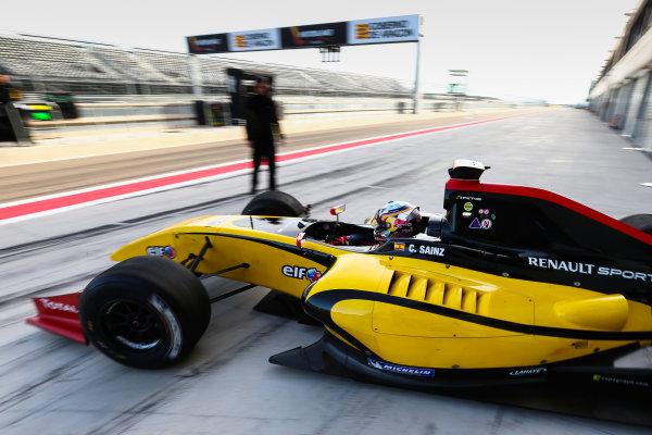 ALCANIZ (ESP) NOV 21-23 2012 - Collective test Formula Renault 3 5 2012 at Motorland Aragon. Carlos Sainz jr. #28 Dams. Action. © 2012 Diederik van der Laan / Dutch Photo Agency / LAT Photographic