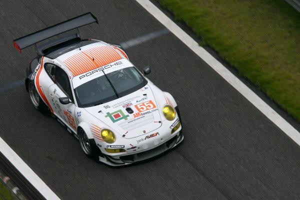 Shanghai, China. 25th - 27th October 2012. Joel Camathias (CHE)/Matt Bell (GBR)/Paul Daniels (GBR) JWA Avila Porsche 911 RSR. World Copyright: Ebrey/LAT Photographic.
