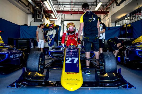 2016 GP3 Series Test 5. Yas Marina Circuit, Abu Dhabi, United Arab Emirates. Wednesday 30 November 2016. Raoul Hyman (RSA, DAMS)  Photo: Zak Mauger/GP3 Series Media Service. ref: Digital Image _L0U3293