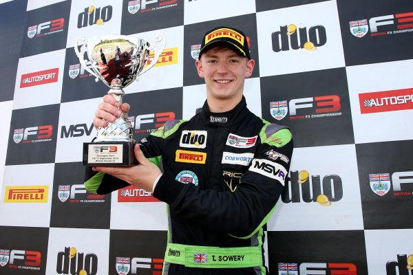2016 BRDC F3 Championship, Donington Park, Leicestershire. 10th - 11th September 2016. Toby Sowery (GBR) Lanan Racing BRDC F3. World Copyright: Ebrey / LAT Photographic.