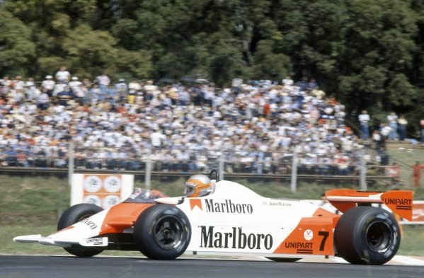 1981 Argentinian Grand Prix.Buenos Aires, Argentina. 10-12 April 1981.John Watson (McLaren MP4/1-Ford Cosworth), retired.World Copyright: LAT PhotographicRef: 35mm transparency 81ARG20