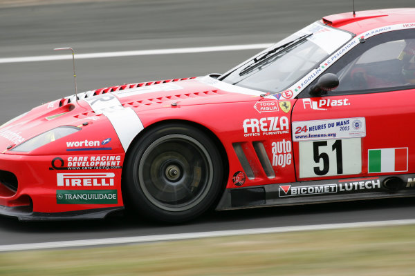 2005 Le Mans Test Day5th June 2005Le Mans, FranceBMS Scuderia Italia (ITA, Ferrari 550 Maranello ) Action. World Copyright: Glenn Dunbar / LAT PhotographicDigital Image Only