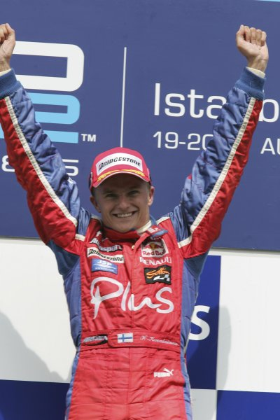 2005 GP2 Series - TurkeyIstanbul Park, IstanbulSunday Race 2Winner Heikki Kovalainen ( fin, Arden) Podium Copyright: GP2 Series Media Service ref: Digital Image Only