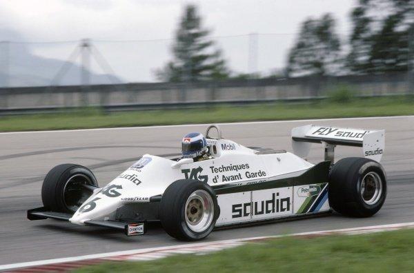1982 Brazilian Grand Prix.Rio de Janeiro, Brazil. 19-21 March 1982.Keke Rosberg (Williams FW07C-Ford Cosworth), disqualified.World Copyright: LAT PhotographicRef: 35mm transparency 82BRA08