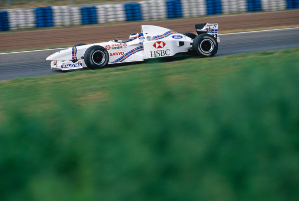 Catalunya, Barcelona, Spain. 23-25 May 1997.Jan Magnussen (Stewart SF1 Ford).Ref-97 ESP 13.World Copyright - LAT Photographic