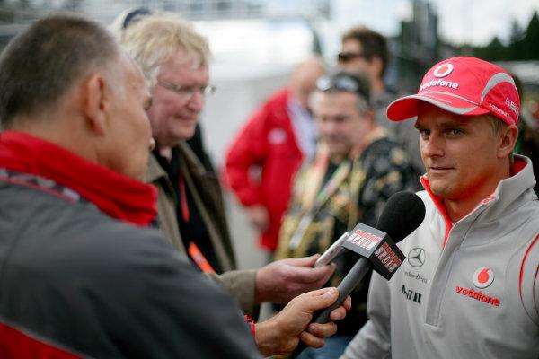 Spa Francorchamps, Spa, Belgium.4th September 2008.Heikki Kovalainen, McLaren MP4-23 Mercedes, Portrait.World Copyright: Glenn Dunbar/LAT Photographicref: Digital Image YY8P9054