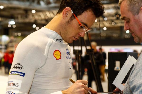 Autosport International Exhibition. National Exhibition Centre, Birmingham, UK. Thursday 11th January 2017. Thierry Neuville.World Copyright: Ashleigh Hartwell/LAT Images Ref: _O3I7633