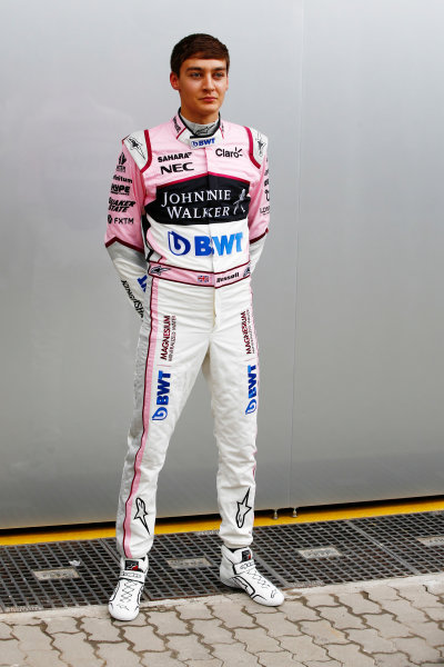 Interlagos, Sao Paulo, Brazil. Thursday 09 November 2017. George Russell, Force India. World Copyright: Andy Hone/LAT Images  ref: Digital Image _ONY7498
