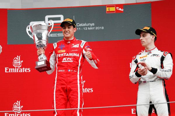 Giuliano Alesi (FRA, Trident) and Jake Hughes (GBR, ART Grand Prix)