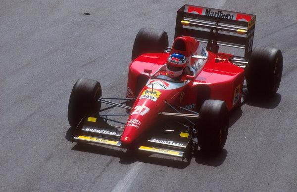 1993 Monaco Grand Prix.Monte Carlo, Monaco.20-23 May 1993.Jean Alesi (Ferrari F93A) 3rd position.Ref-93 MON 20.World Copyright - LAT Photographic