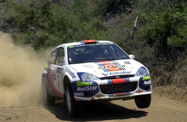 2001 World Rally ChampionshipCyprus Rally June 1-3, 2001Carlos Sainz on Stage 3Photo: Ralph Hardwick/LAT