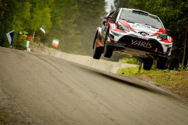 Jari-Matti Latvala (FIN) / Miikka Anttila (FIN), Toyota Gazoo Racing Toyota Yaris WRC at World Rally Championship, Rd9, Rally Finland, Preparations and Shakedown, Jyvaskyla, Finland, 27 July 2017.