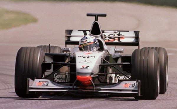 1998 San Marino Grand Prix.Imola, Italy.24-26 April 1998.David Coulthard (McLaren MP4/13 Mercedes-Benz) 1st position.World Copyright - LAT Photographic