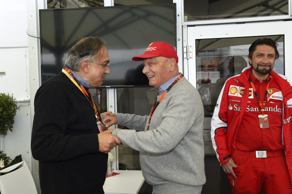 Sergio Marchionne with former World Champion, Niki Lauda.