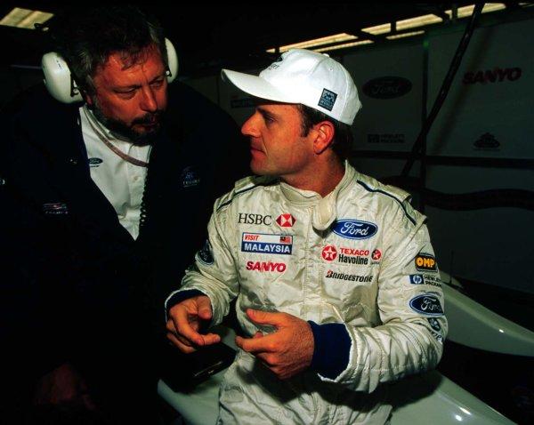 1997 Belgian Grand Prix.Spa-Francorchamps, Belgium.22-24 August 1997.Rubens Barrichello (Stewart Ford).World Copyright - LAT Photographic