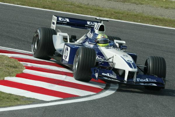 2002 Japanese Grand Prix.Suzuka, Japan.11-13 October 2002.Ralf Schumacher (Williams FW24 BMW).World Copyright - Steve Etherington/LAT Photographicref: Digital Image Only