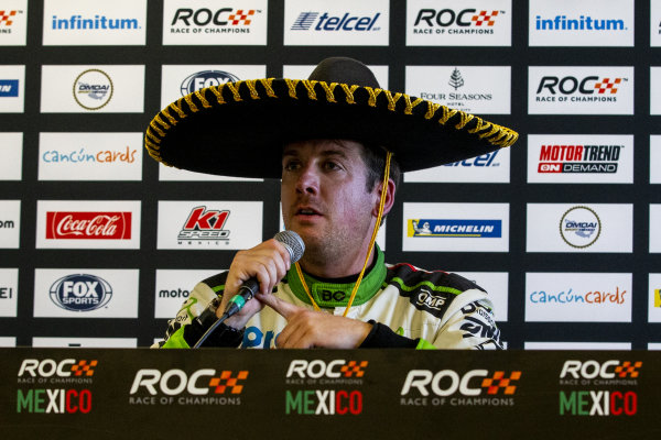 Winner Benito Guerra (MEX) talks in the press conference during the Race of Champions on Sunday 20 January 2019 at Foro Sol, Mexico City, Mexico