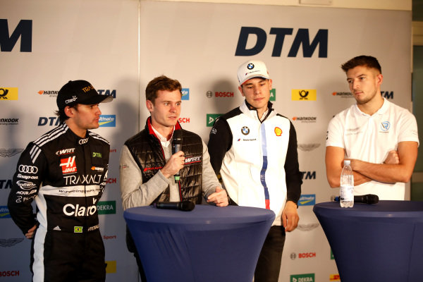 Press Conference, Pietro Fittipaldi, Audi Sport Team WRT, Jonathan Aberdein, Audi Sport Team WRTm Sheldon van der Linde, BMW Team RBM, Jake Dennis, R-Motorsport.