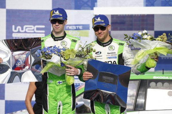 Kalle Rovanperä (FIN), Jonne Halttunen (FIN), WRC2 Pro winners, Skoda Motorsport, Skoda Fabia R5 EVO 2019