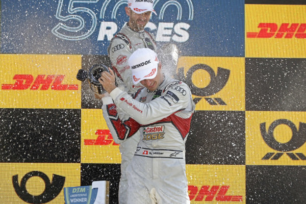 Podium: René Rast, Audi Sport Team Rosberg, Nico Müller, Audi Sport Team Abt Sportsline.