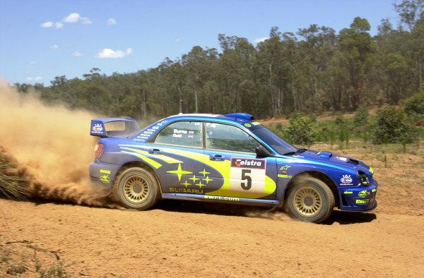 2001 World Rally ChampionshipTelstra Rally Australia, Perth, WA. 1-4 November 2001.Richard Burns on stage 2.Photo: Ralph Hardwick/LAT