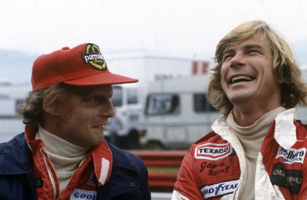 Niki Lauda and James Hunt.