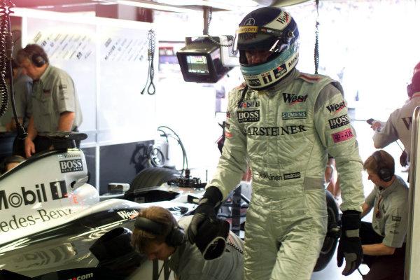 2000 German Grand Prix.Hockenheim, Germany. 28-30 July 2000.Mika Hakkinen (McLaren Mercedes) 2nd position.World Copyright - Tee/LAT Photographicref: 5mb digital