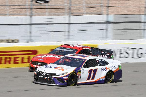#11: Denny Hamlin, Joe Gibbs Racing, Toyota Camry FedEx Office, #41: Daniel Suarez, Stewart-Haas Racing, Ford Mustang Haas Automation