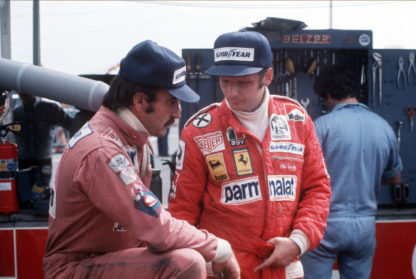 Clay Regazzoni and Niki Lauda.