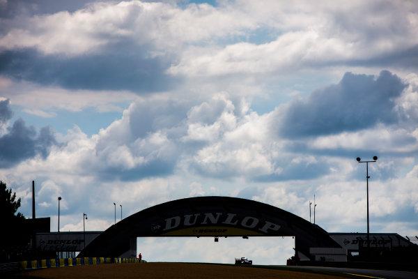 2016 Le Mans 24 Hours. Circuit de la Sarthe, Le Mans, France. Saturday 18 June 2016. Dunlop bridge. Audi Sport Team Joest / Audi R18 - Marcel Fassler (CHE), Andre Lotterer (DEU), Benoit Treluyer (FRA).  World Copyright: Zak Mauger/LAT Photographic ref: Digital Image _79P7486