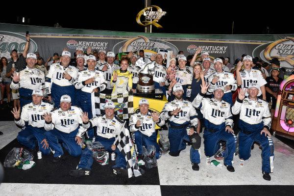 6-9 July, 2016, Sparta, Kentucky USA Brad Keselowski celebrates his win in Victory Lane ?2016, Nigel Kinrade LAT Photo USA