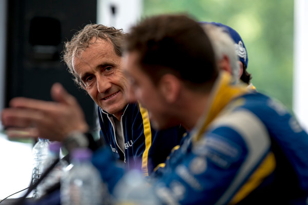 2015/2016 FIA Formula E Championship. London ePrix, Battersea Park, London, United Kingdom. Sunday 3 July 2016. Alain Prost. Photo: Zak Mauger/LAT/Formula E ref: Digital Image _79P3206