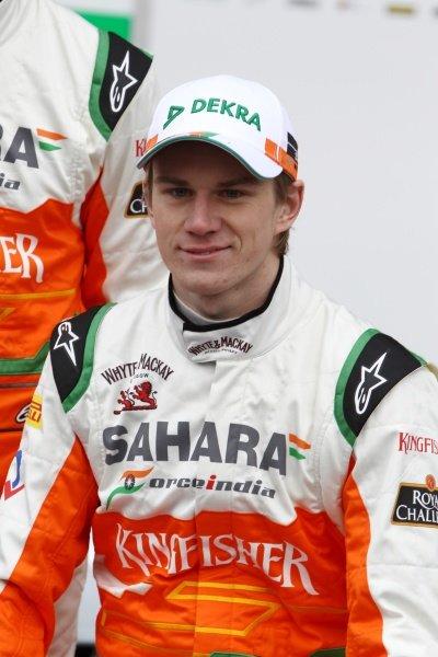 Nico Hulkenberg (GER). Sahara Force India VJM05 Unveil, Silverstone, England, Friday 3 February 2012.