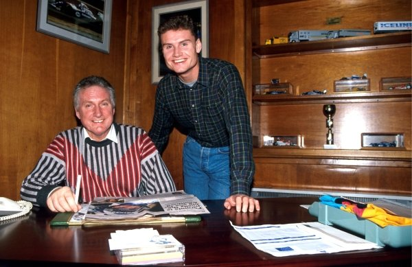 David Coulthard (R) at home with his father (L)Formula One Drivers At Home