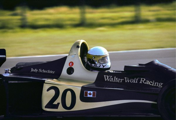 Jody Scheckter (RSA) Wolf WR1 took a historic victory in the opening race of the season, as the Wolf team became the first and only constructor to win on their GP debut. Argentinean Grand Prix, Rd1, Buenos Aires No. 15, Argentina, 9 January 1977. BEST IMAGE