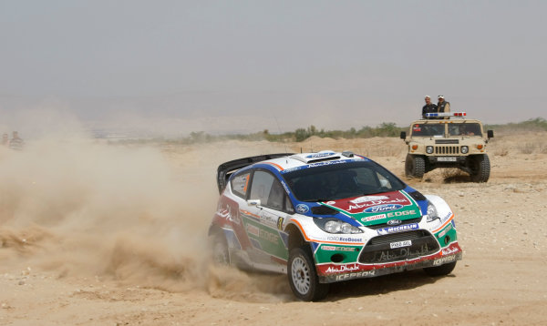 Round 04 Rally Jordan. 14th-16th April 2011.Mikko Hirvonen, Ford WRC, Action.Worldwide Copyright: McKlein/LAT