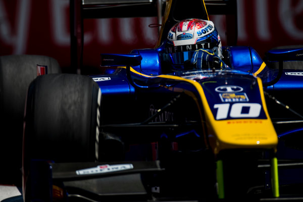 2017 FIA Formula 2 Round 4. Baku City Circuit, Baku, Azerbaijan. Friday 23 June 2017. Nicholas Latifi (CAN, DAMS)  Photo: Zak Mauger/FIA Formula 2. ref: Digital Image _54I0090